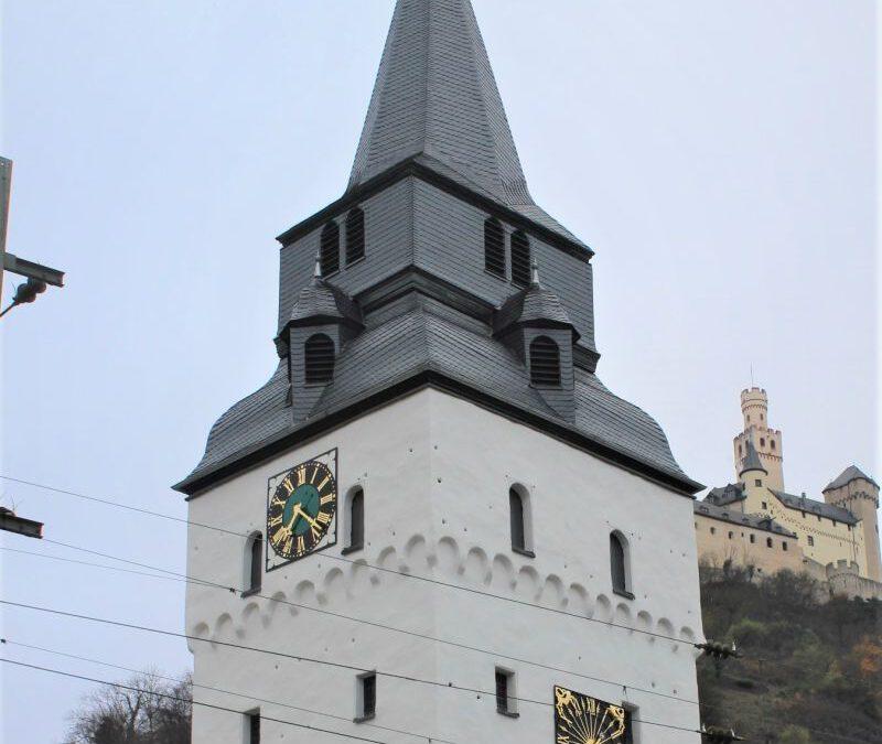 Braubach – Ev. Barbarakirche (Neue Zifferblätter)